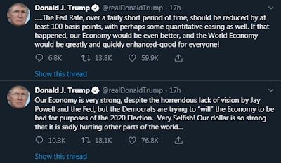 Trump Latest Tweets August 2019