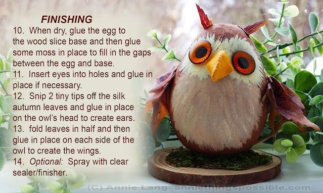 Make this Wise Little Owl DIY paper mache egg craft with a few basic supplies and a little imagination with this how to project by Annie Lang!