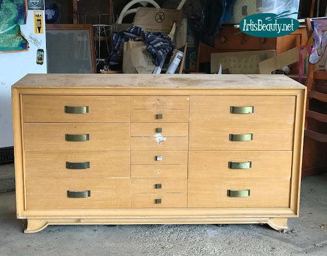 BEFORE MCM DRESSER BEAT UP AND ABANDONED READY FOR A MAKEOVER