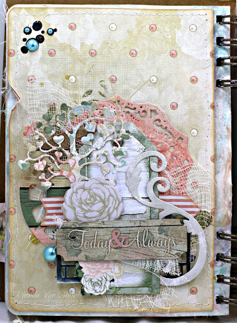 Art Journal Pages featuring Felicity Collection by BoBunny and Scrapbook Adhesives by 3L designed by Rhonda Van Ginkel