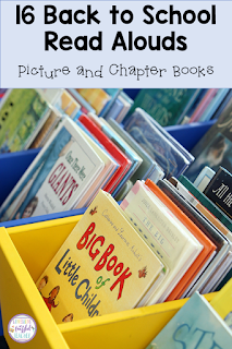 Finding the perfect story to read aloud to your students at the beginning of the school year can be difficult. This blog post shares 16 books (both picture and chapter) to encourage students to become interested in reading. The recommendations also help teachers use trade literature to teach comprehension skills like sequencing and problem/solution as well as social/emotional skills. #confessionsofafrazzledteacher #teachers #backtoschool {Kindergarten, First, Second, and Third Graders}