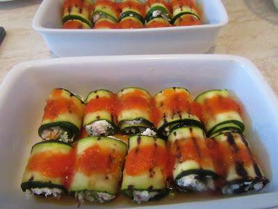 Kako napraviti punjene tikvice / Zucchini as cannelloni