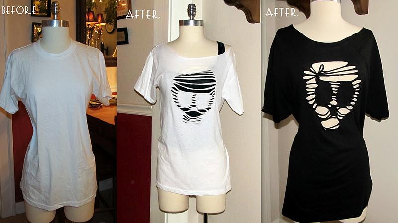 Teach Simple General Information: Rocker Style T-Shirt Cutting