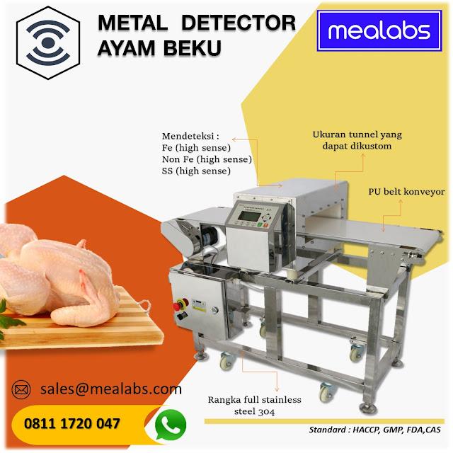 metal detector ayam beku