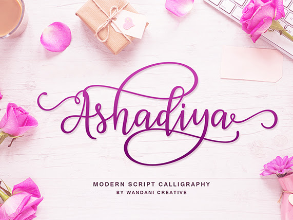 Ashadiya Beautiful Calligraphy Font Free Download
