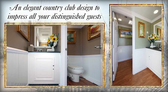 The Amagansett luxury bathroom trailer rental