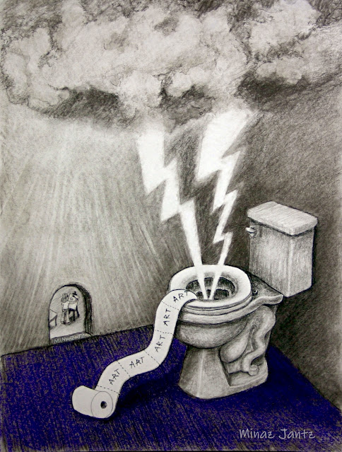 Toilet Inspirations by Minaz Jantz (Charcoal & Pastel)