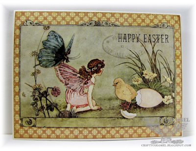 CraftyColonel Donna Nuce for Cards in Envy Challenge Blog, Pastel Easter, Graphic 45 Once Upon a Springtime