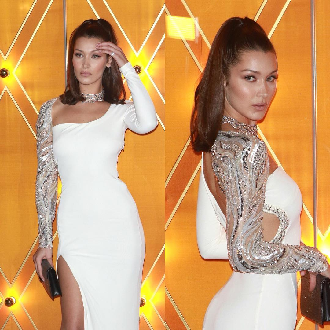 Bella Hadid Looks Hot in White Dress