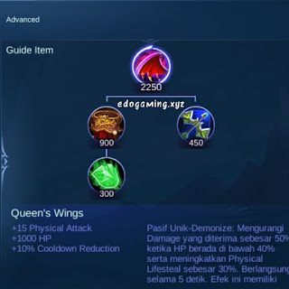 penjelasan lengkap item mobile legends item queens wings