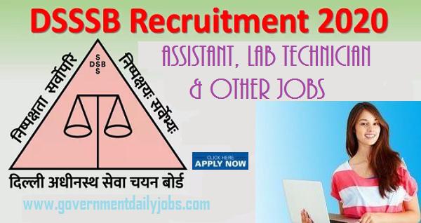 DSSSB Assistant Vacancy 2020