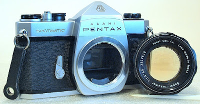 Asahi Pentax Spotmatic SP (Chrome) Body #165, Super Takumar 55mm 1:1.4 #518