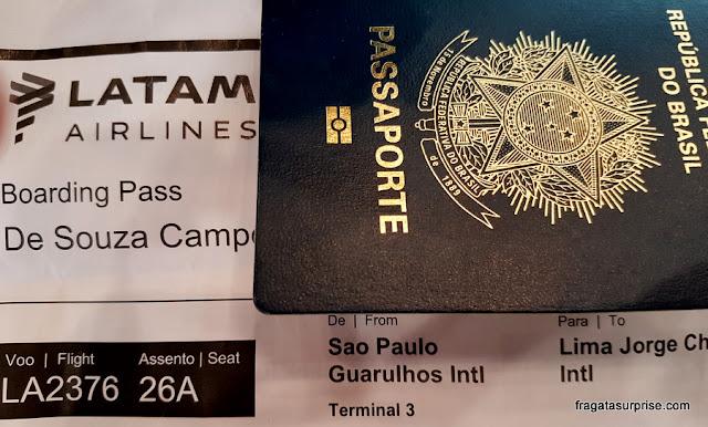 Documentos necessários para viajar ao Peru
