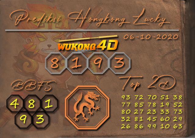 Prediksi Togel HONGKONG LUCKY 7 WUKONG4D 06 OKTOBER 2020