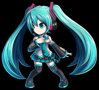 Hatsune Miku dans le cadre du jeu pour smartphone Brave Frontier