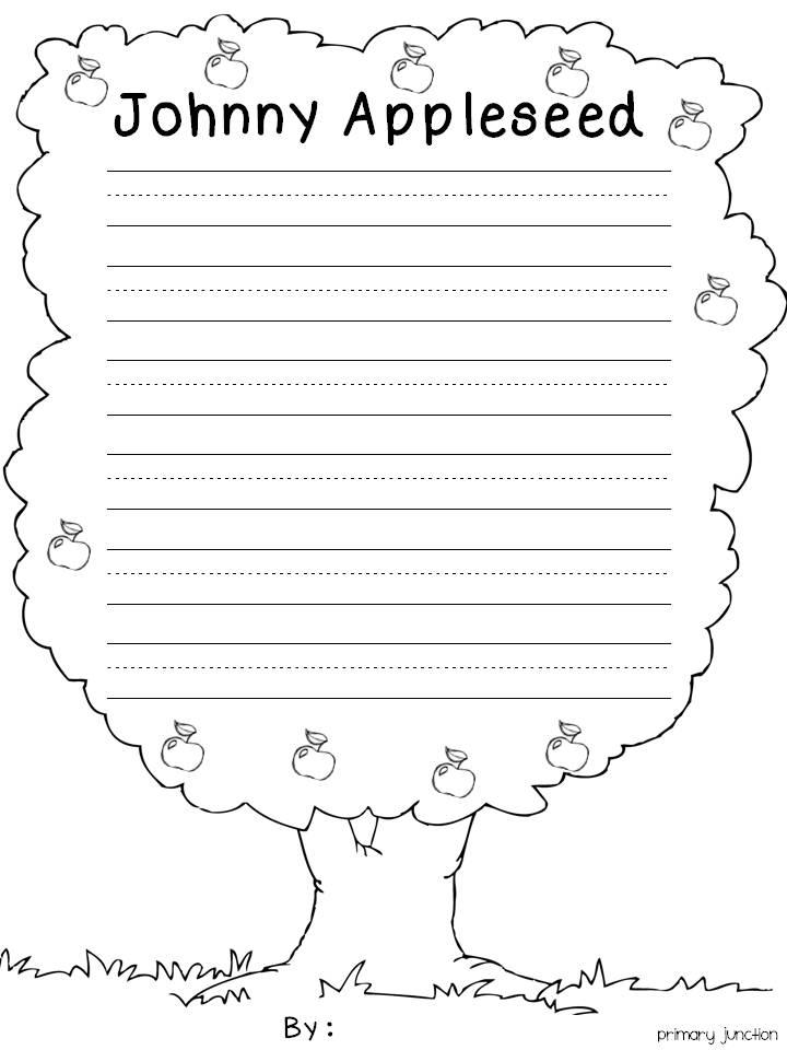 Cutting Worksheets For Kindergarten Johnny Appleseed ...