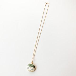 ネックレス(ISHII緑・チェーン14GF)