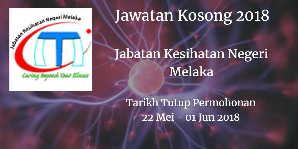 Jawatan Kosong JKN Melaka 22 Mei - 01 Jun 2018