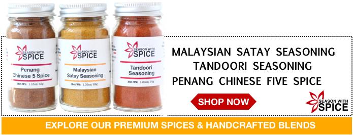 buy satay seasoning, tandoori seasoning and chinese five spice from season with spice asian spice shop