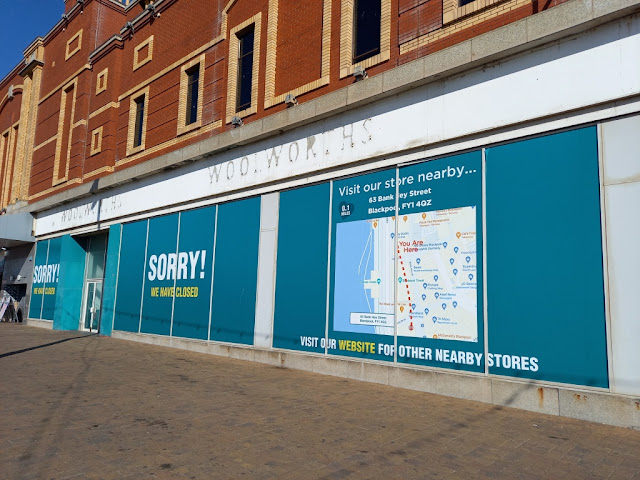 Woolworths ghost signs in Blackpool
