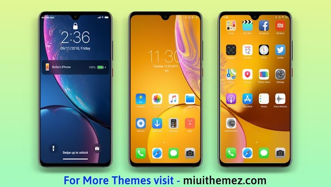 iOS BoSe v10 MIUI Theme | MIUI iOS Theme for Xiaomi