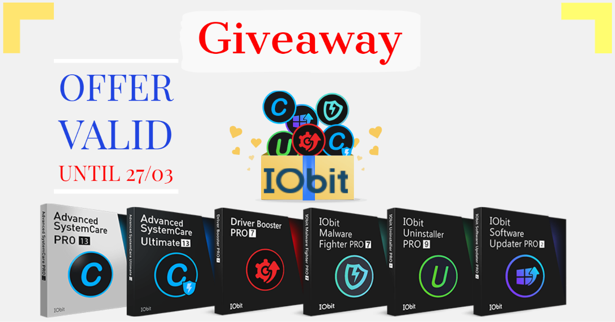 Giveaway: All IObit Free For a Year