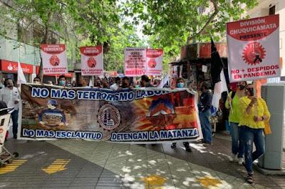 Trabajadores de Codelco se manifestaron y acusaron despidos en pandemia