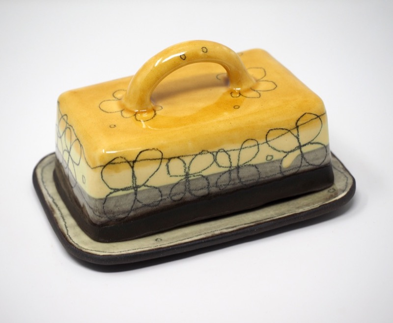 ceramic butter dish Sheila Herring