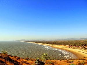 Atop a hill for a majestic view of Gokarna beach