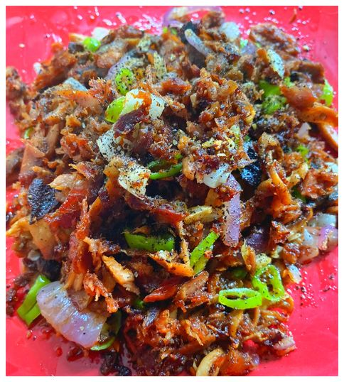 Tuna and mushroom sisig hack