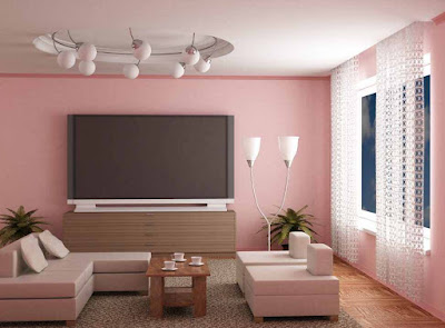 pale pink relaxing living room paint colors