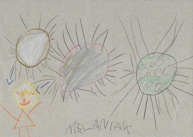 koronawirus rysunek Melania lat 4