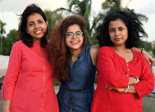 Wonder Munna with her sister Aditi and Monica