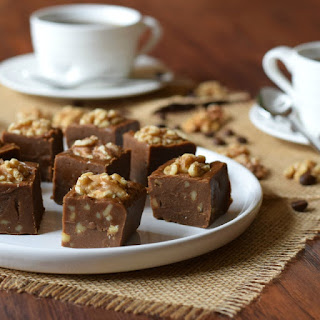 Homemade Coffee and Walnut Fudge