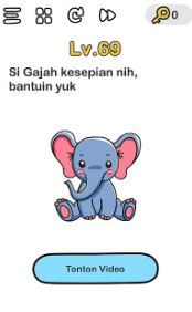 Gajah Kesepian Brain Out