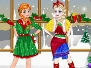 Elsa y Anna Christmas Day