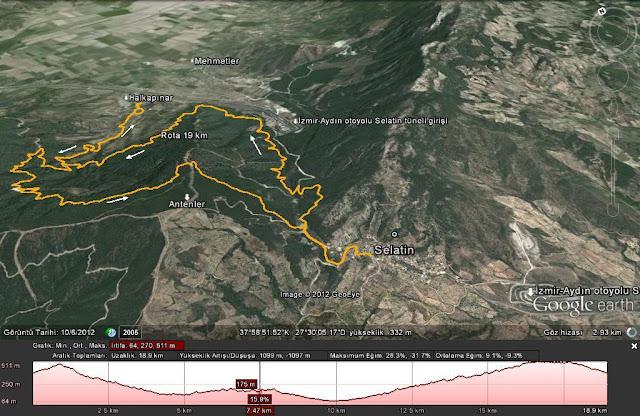 Selatin-Halkapınar yürüyüş rotası 19 km