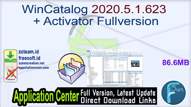 WinCatalog 2020.5.1.623 + Activator Fullversion