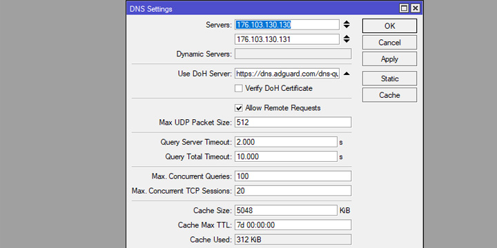 Fungsi DOH Server (DNS Over Https) Pada Mikrotik