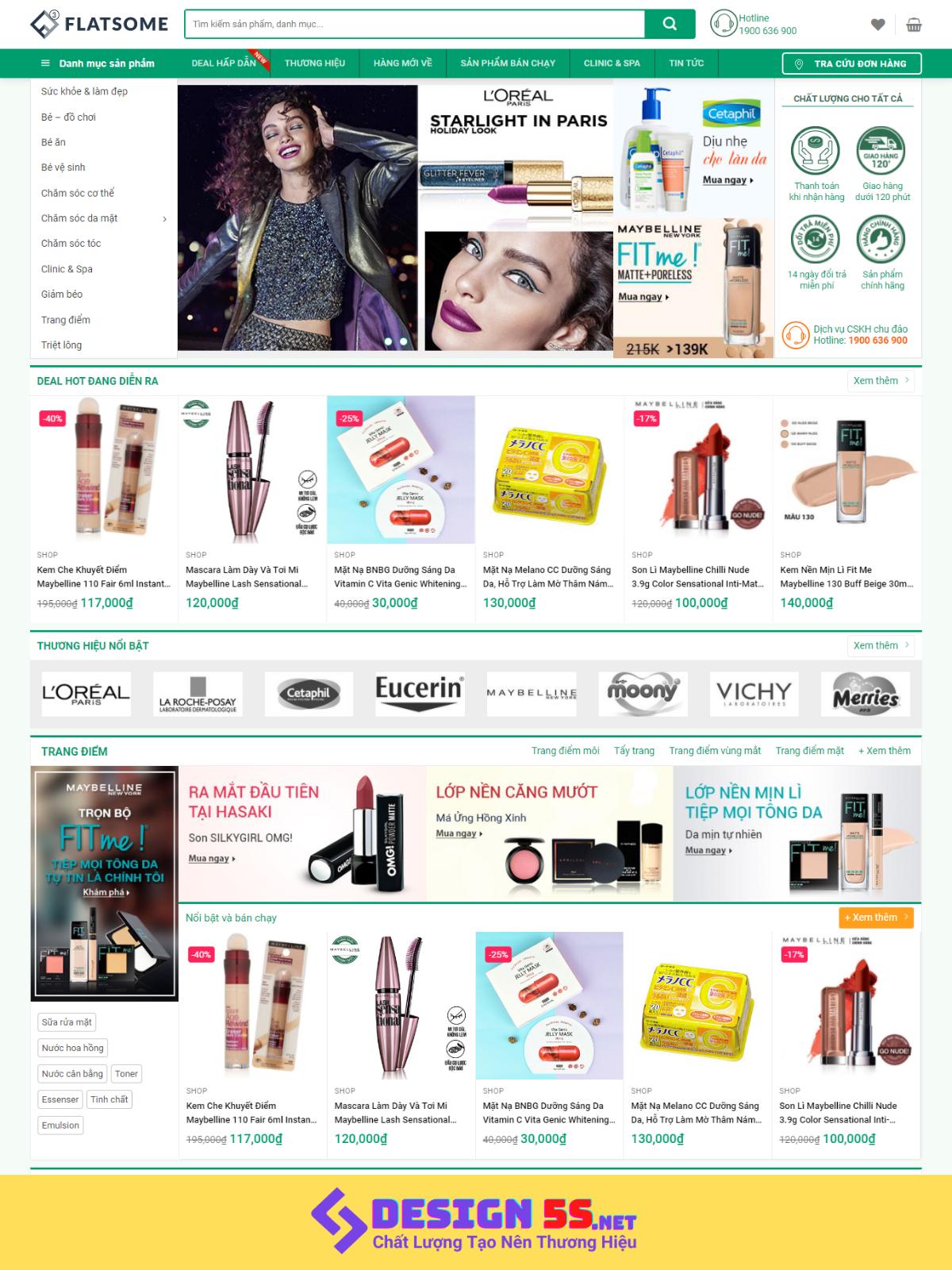 Template blogspot bán hàng mỹ phẩm cao cấp VSM70