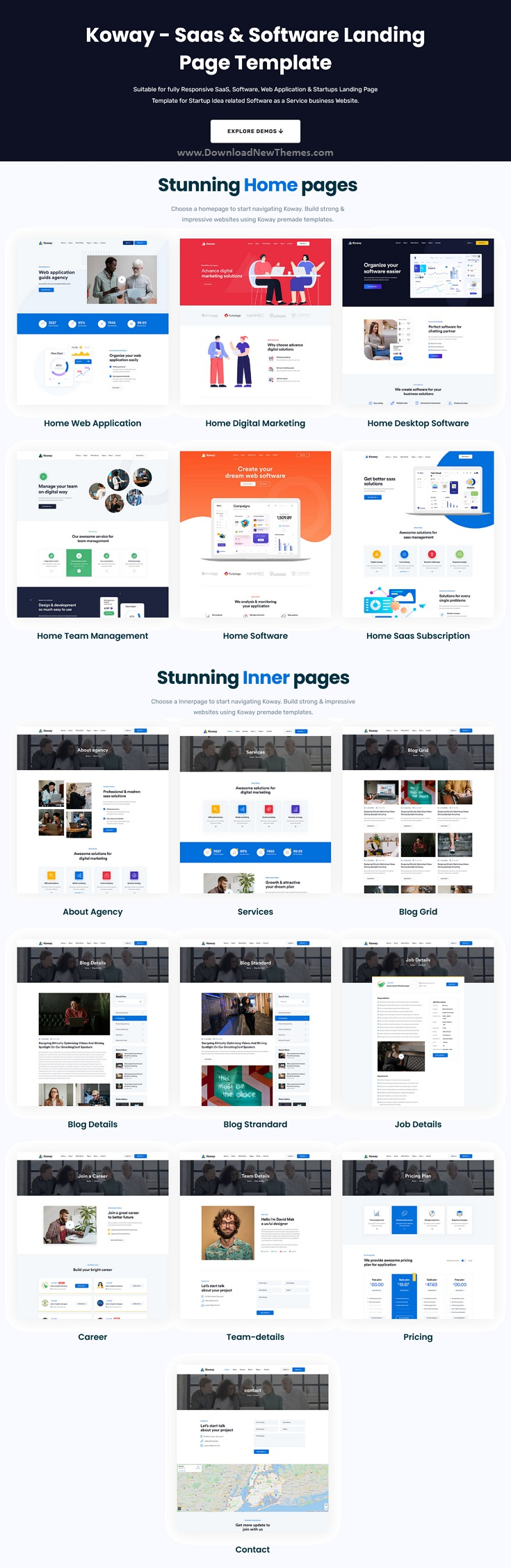 Saas & Software Landing Page Template