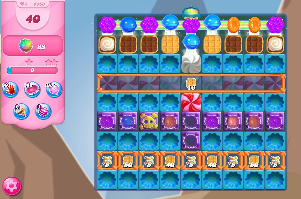 Candy Crush Saga level 8653