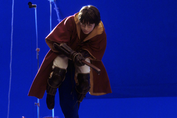 On set of Harry Potter and the Sorcerer's Stone