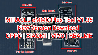 MIRACLE eMMC Plus Tool Version V1.35 OPPO | XIAOMI | VIVO | REALME FREE PASSWORD Download By Androidtipsbd71