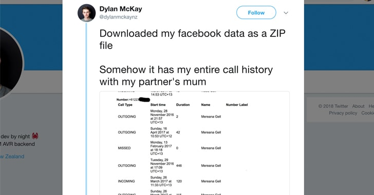 Facebook Collected Your Android Call History and SMS Data For Years
