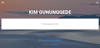 tampilan awal kim gununggede blogspot