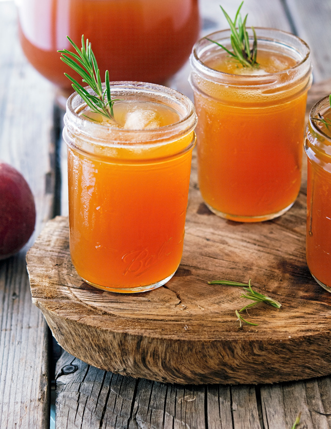 Rosemary-Peach Iced Tea