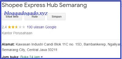 Alamat dan Nomor Telepon kantor Shopee Express Standar Semarang
