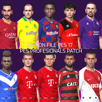 PES 2017 Option File PES Professionals Patch 2017 V5.3 Update 23 August 2019