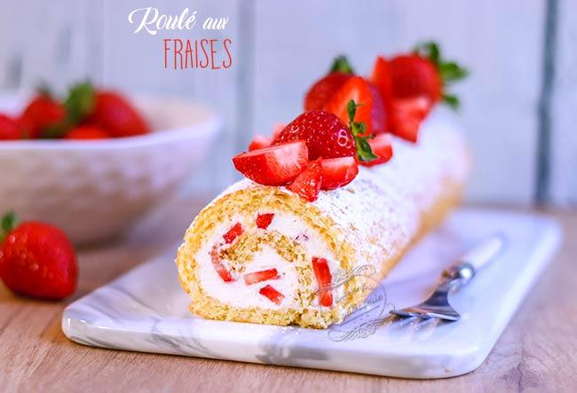 gateau roulé fraise